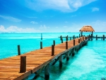 Pier in Tropical Sea,