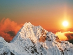 Sunset over the Snowy Mountain