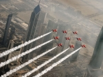 Red Arrows Over Kuwait City