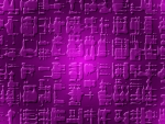 pcologist-Hieroglyphics-purple-patina-3d