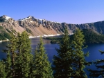Wizard Island on Crater Lake, Oregon, USA