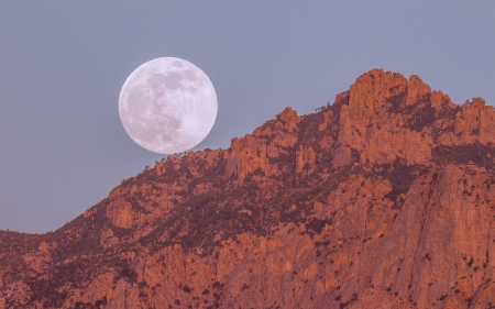 full moon - moon, space, cool, mountain, fun