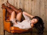 Cowgirl Anja Zeidler . .