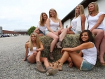 Group Cowgirls . .