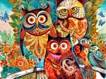 Brightly Colored Owls F2Cmp
