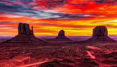 Monument Valley Sunset FC - photography, beautiful, forces of nature, photo, nature, wide screen