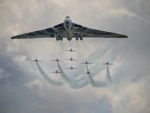 Vulcan Bomber and The Red Arrows