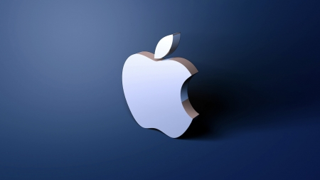 Apple shadow wallpaper - blue, company, technology, sign, mac, apple, color, beautiful, iphone, shadow