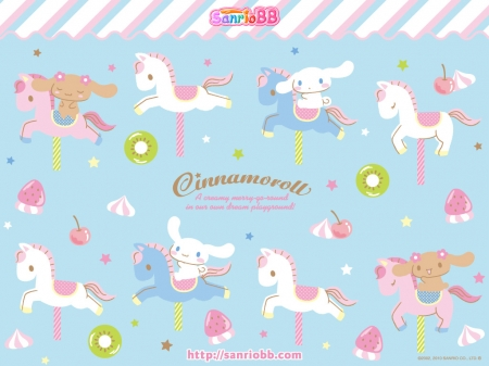 Unicorns and Cinnamoroll - unicorns, sweet, cinnamoroll, childrens