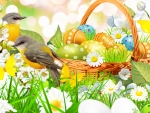 Birds & Easter Basket
