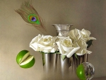White Roses and Apple