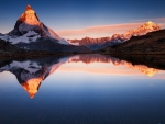 Lake in the Alps, Mount Matterhorn