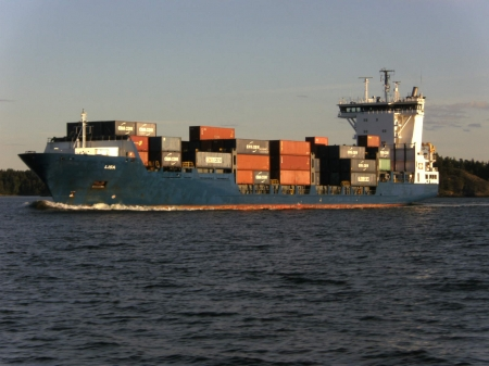 Cargo ship - Stockholm, Lisa, Sweden, Summer