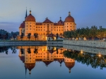 Moritzburg Castle is Reflected in Water, Germany