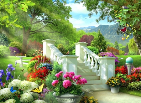 Picture Of Garden majesty of garden - flowers & nature background wallpapers on