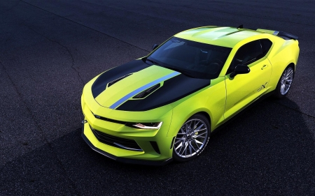 Chevrolet Camaro - cars, Chevrolet Camaro, chevrolet, vehicles, camaro, green cars