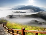 Landscape of Fog and Mist