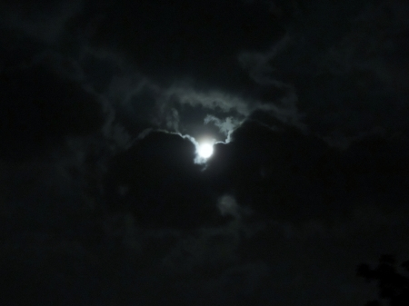 Clouds In The Moonlight - Photography, Sky, Moonlight, Clouds, Moon, Space