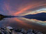 Okanagan Lake at Sunset
