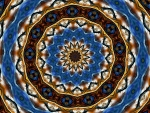 Blue and Brown Kaleidoscope C
