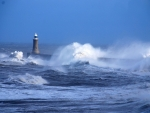 Ocean Storm and Lighthouse