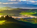 Fields in Tuscany, Italy
