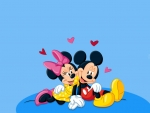 Minnie and Mickey Mouse in love