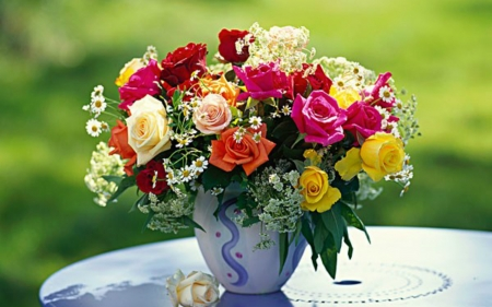 Beautiful Flowers - bloom, flowers, roses, still life