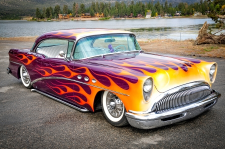1954 Buick - Classic, Whitewalls, Flames, Gm