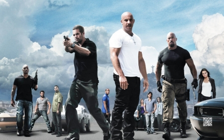 fast five - girl, man, fast, five, car