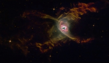 The Red Spider Planetary Nebula - galaxies, space, stars, cool, fun, nebula