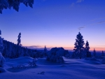 Blue Winter at Sunset