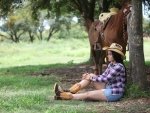 Cowgirl Relaxing