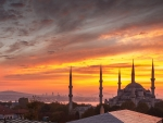 Sunset over Turkey Mosque