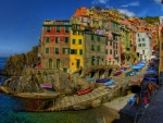 Riomaggiore at Sunset,Italy