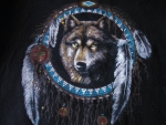 Wolf in Dreamcatcher - For Melissa