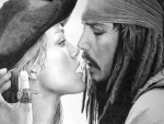 Elizabeth Swann and Jack Sparrow