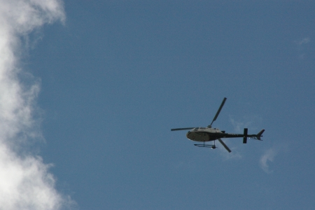 Helicopter over Victor, Idaho - Helicopters, Transportaion, Sky, Flight