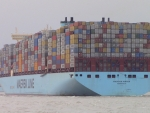 Container Ship MADISON MAERSK Fully Loaded