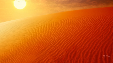 Heat in Desert - Firefox Persona theme, desert, heat, sunshine, hot, sun, orange, sand