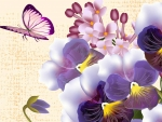 Pansies Butterfly