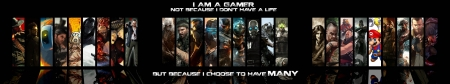 I am a Gamer - Games, Gamer, dualscreen, dual, Wideoscreen, life, am, I