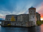 Finland Castle at Sunset