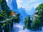 Asian Mountain Painting