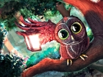 Cool Owl with Lantern