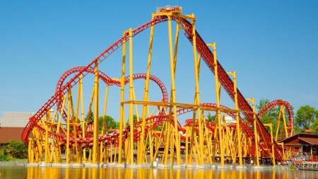 would you - amusement, coaster, park, roller, thrill, rides