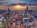 Wroclaw at Sunset, Poland