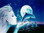 Mermaid and Dolphins