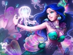 Mermaid With a Jellyfish