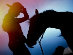 Cowgirl & Horse Silhouettes
